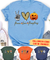 Peace Love Halloween - Personalized Custom Unisex T-shirt