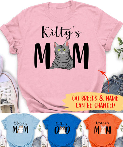 Cat Mom/Dad - Personalized Custom Unisex T-shirt