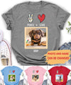 Peace Love Dog - Personalized Custom Photo Premium T-Shirt