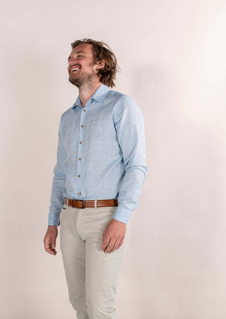 Slim fit - Klaas - Linnen Zeelucht