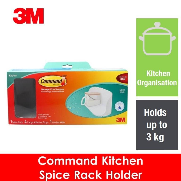 3M Command Kitchen Spice Rack Holder