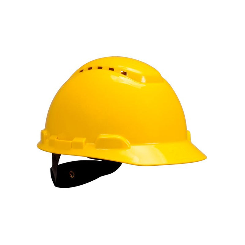 3M Yellow Hard Hat 4 PT Ratchet Suspension Vented PSB Approved