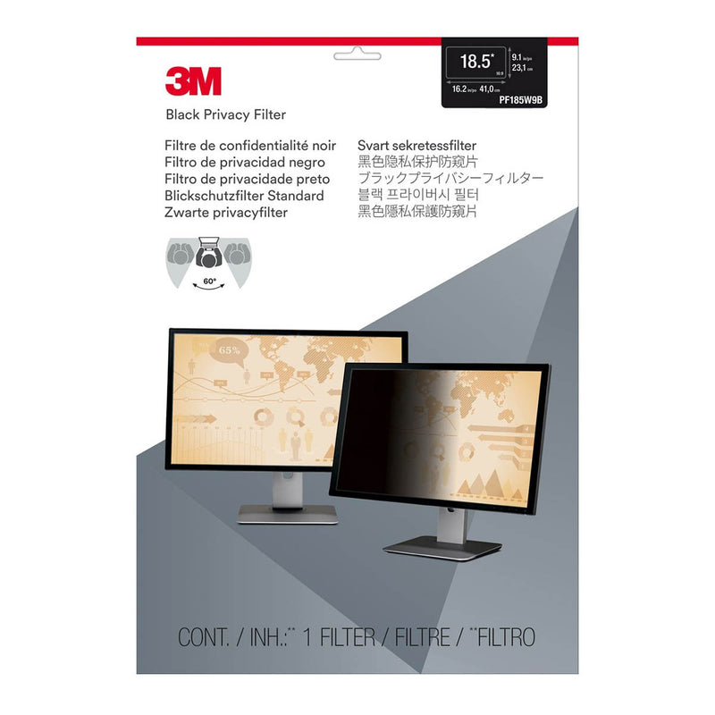 3M PF185W9B Privacy Filter Widescreen (230.9 mm X 410.3 mm) 8523