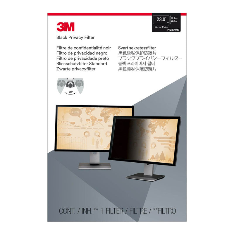 3M PF230W9B Privacy Filter (286.9 mm X 509.7 mm) 9650