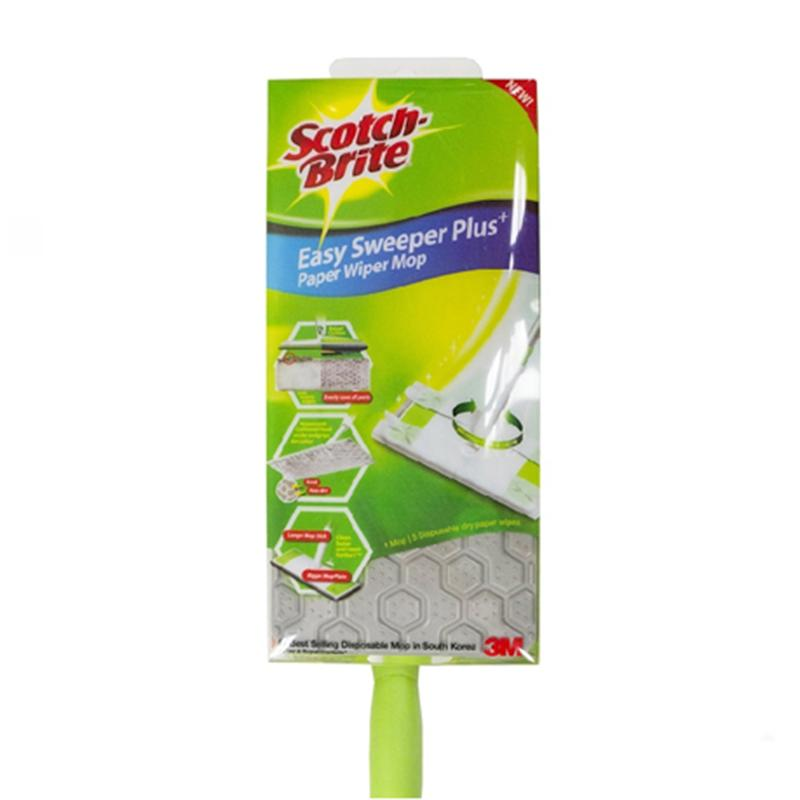 3M Scotchbrite Easy Sweeper Plus Paper Wiper Starter Kit