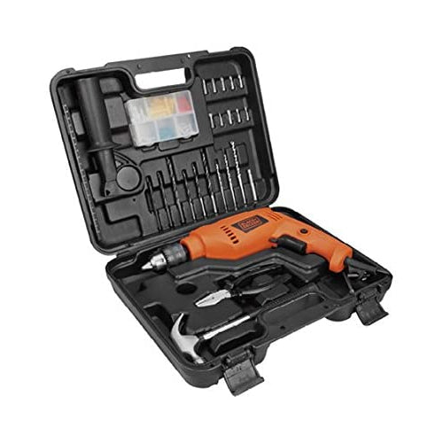 Black & Decker 550W 13 mm Hammer Drill With Kitbox/88 Accessories