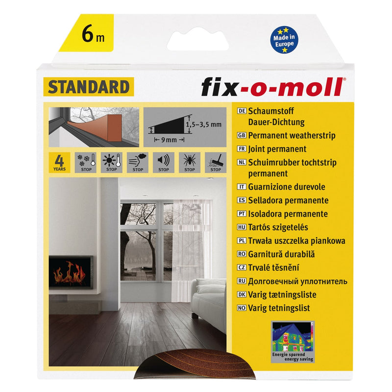 Fix-O-Moll Permanent Sealing Self Adhesive Brown 4 mm X 6 mm
