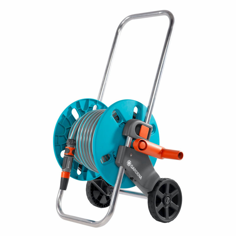 Gardena Hose Trolley Aquaroll S W 30 Meter Hose + Fittings