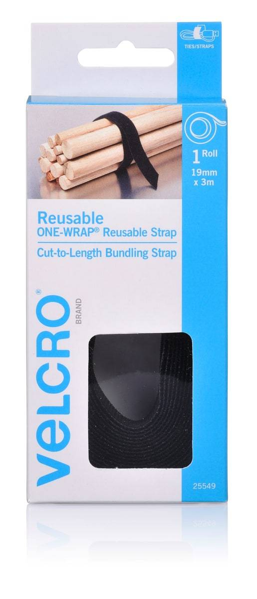 Velcro Brand One-Wrap Re-Usable Strap Cut-To-Length Bundling Strap
