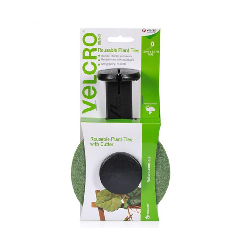 Velcro Reusuable Plant Ties & Cutter 12 mm X 13.7 Meter