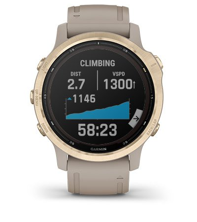 Skyhound Garmin Fenix 6S Pro Solar Gold with Sand Band