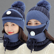 Load image into Gallery viewer, 3pcs Women Winter Scarf Set