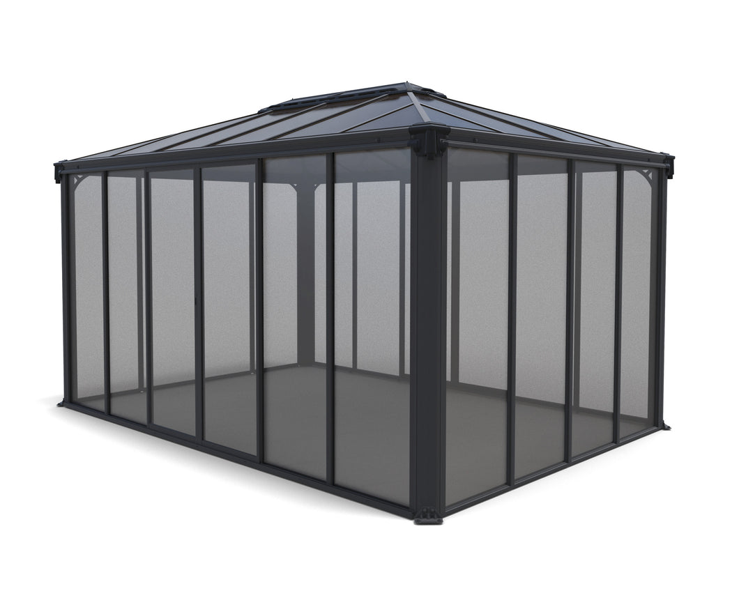 Ledro Gazebo 10' x 14' Gray/Bronze