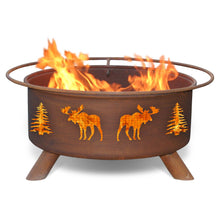 Load image into Gallery viewer, Moose & Trees Fire Pit