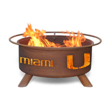 Load image into Gallery viewer, University of Miami Fire Pit