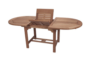 Oval Teak Expansion Table 60