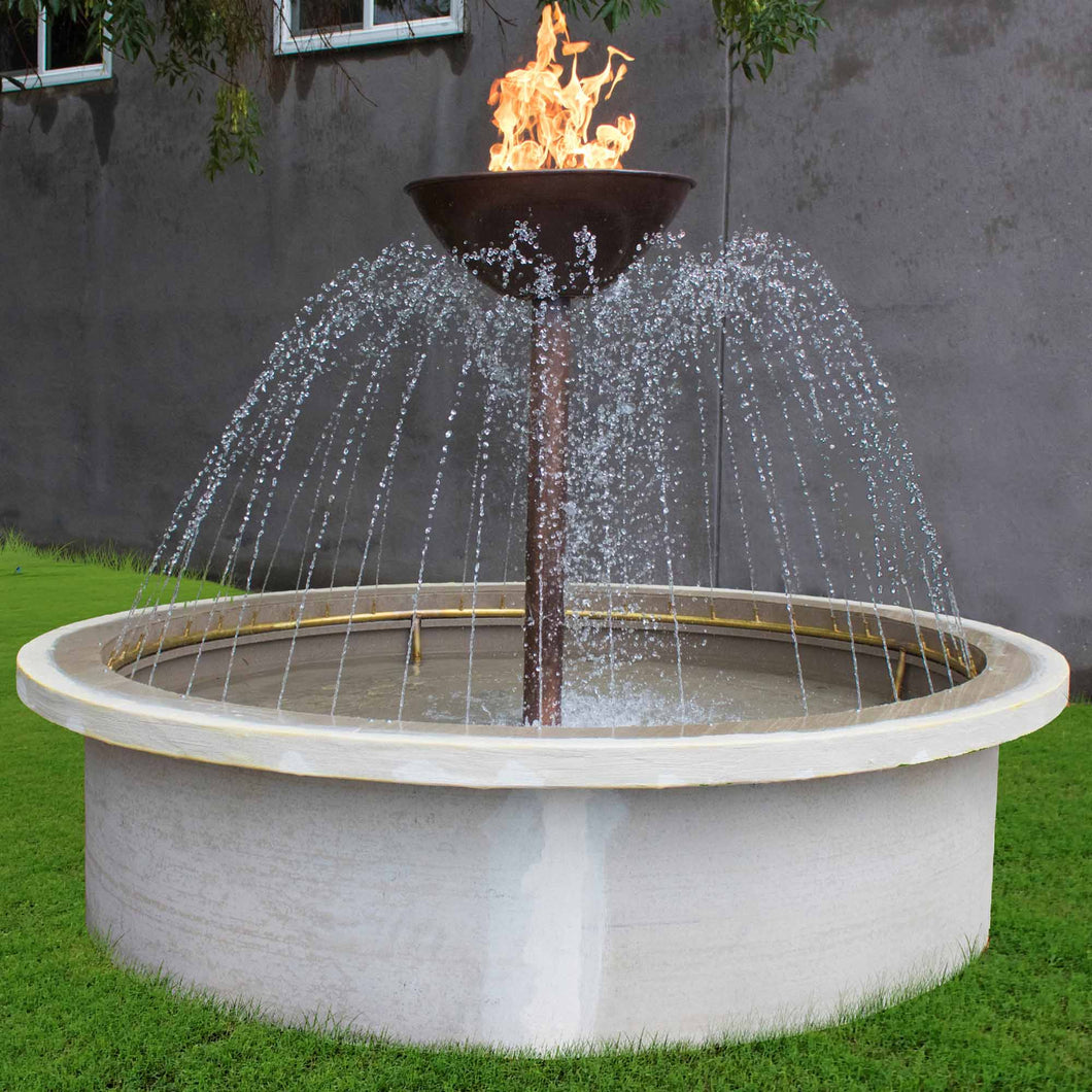 Osiris Round Fire & Water Fountain 60-inch Electronic Ignition - Propane (L.P.)