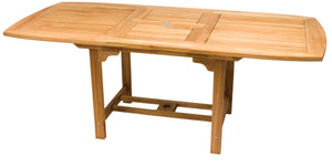 Rectangular Teak Expansion Table 96