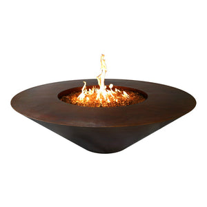 Cazo Copper Fire Pit Wide Ledge Match