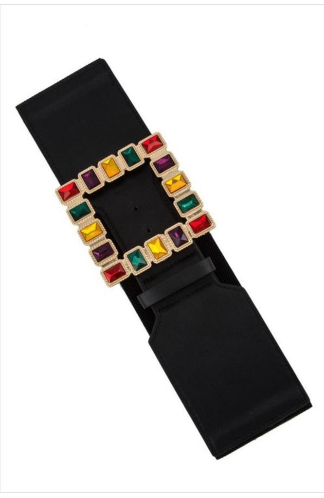 Gold Square Colorful Belt