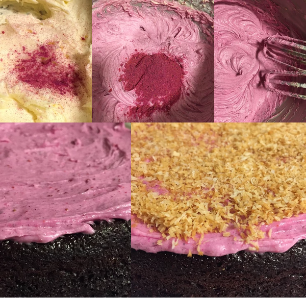 Terra Powders Dragon Berry Frosting Recipe In Progress Pictures