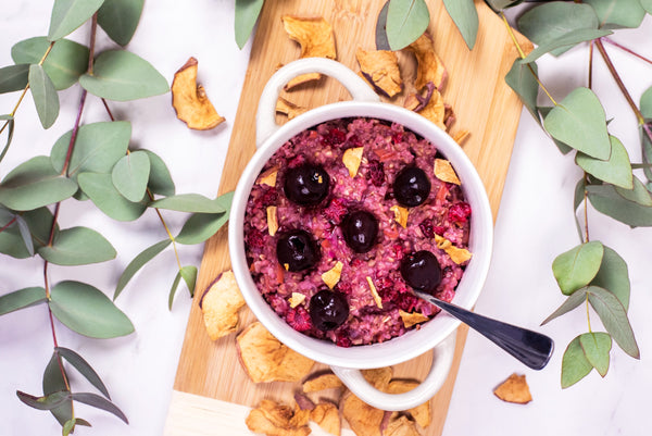 Delicious Bowl Of Dragon Berry Oatmeal