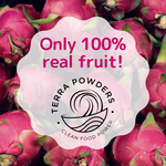 Load image into Gallery viewer, Only 100% Real Fruit In Terra Powders Dragon Berry Drink Mix Powder