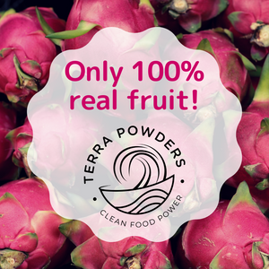 Only 100% Real Fruit In Terra Powders Dragon Berry Drink Mix Powder