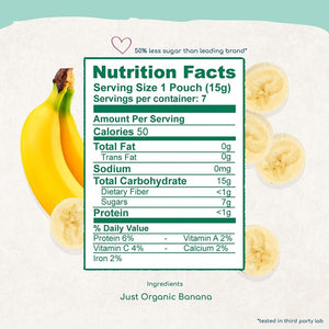 Amara Nutrition Facts And Ingredients Organic Banana Food For Babies