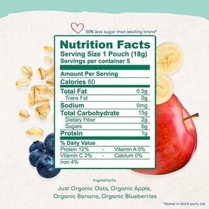 Amara Nutrition Facts And Ingredients Organic Oats And Berries Food For Babies