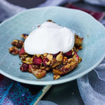 Load image into Gallery viewer, Apple Cranberry Cobbler Made With Living Intentions Sprouted Almonds