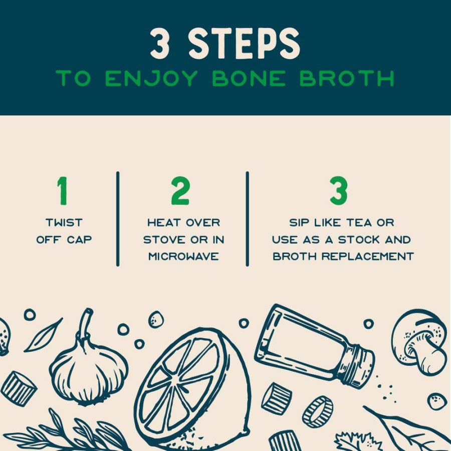 3 Steps To Enjoy Rosemary Lemon Chicken Bone Broth Sip Like Tea Or Use As Stock And Broth Replacement Infographic Bare Bones