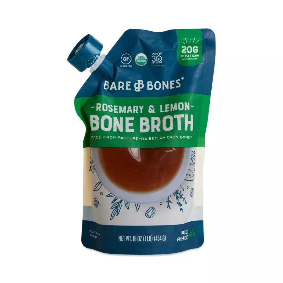 Bare Bones Organic Rosemary & Lemon Bone Broth 16oz