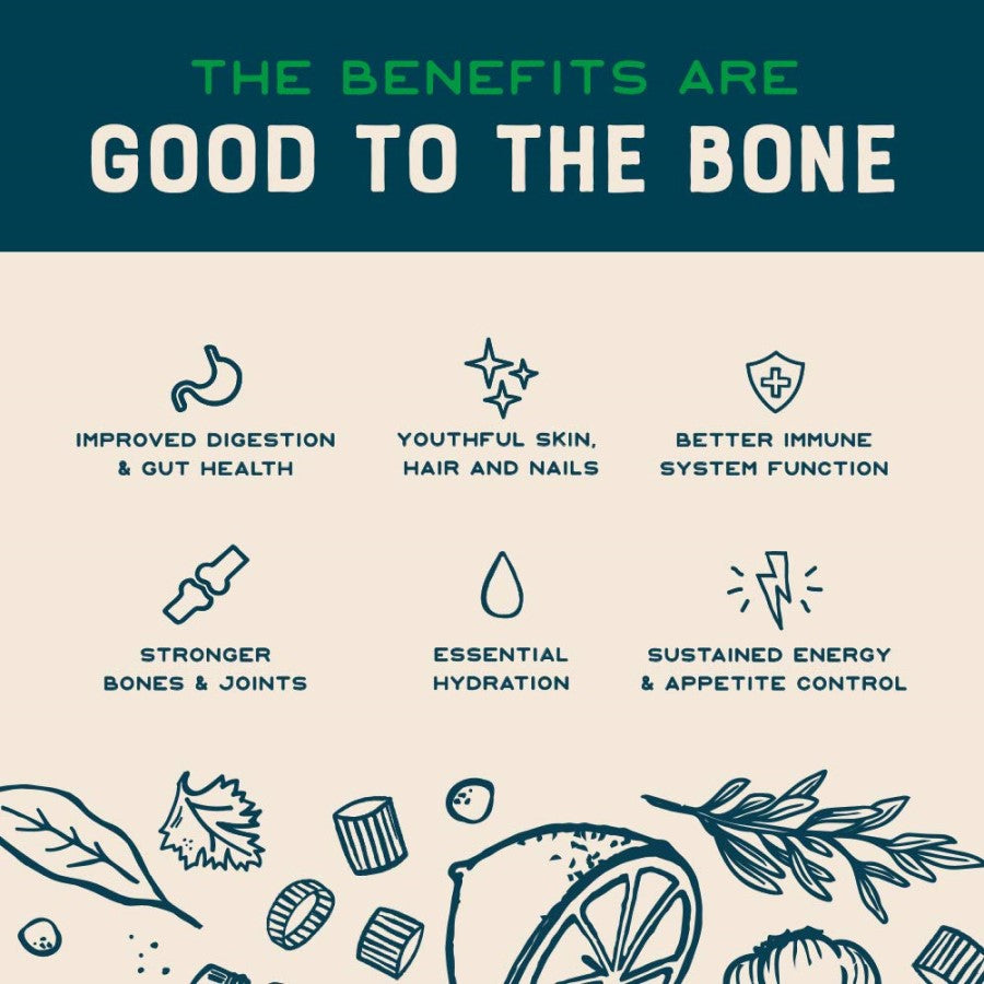 Organic Lemon Rosemary Bone Broth Benefits Are Good To The Bone Infographic Bare Bones