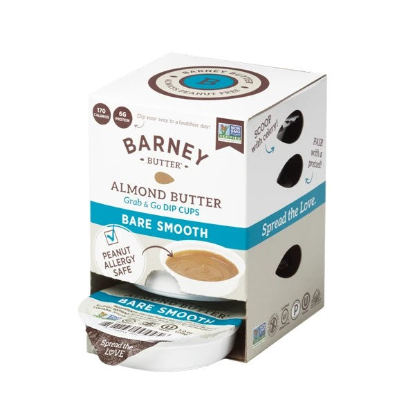Barney Butter Bare Smooth Almond Butter Dip Cups 6 Pack