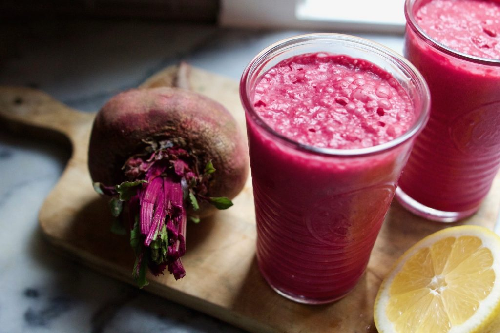 Bare Bones Smoothie Recipe Beet Ginger And Coconut Smoothie With Collagen Rich Classic Beef Bone Broth