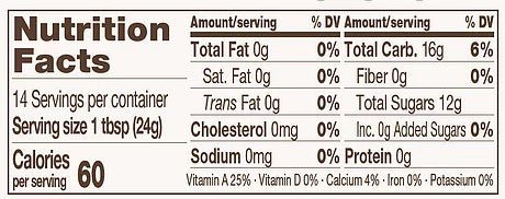 Big Tree Farms Low Glycemic Syrup Nutrition Facts Organic Amber Coconut Nectar