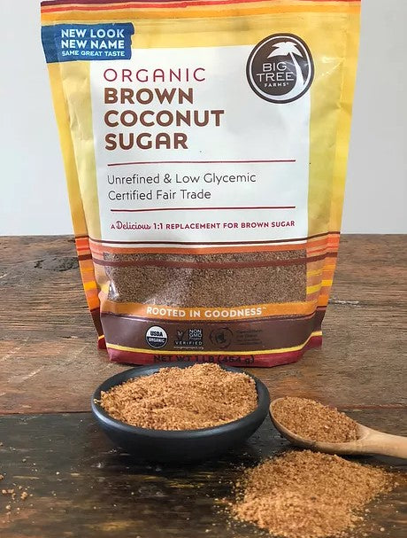 Unrefined Coconut Brown Sugar Big Tree Farms Certified Fair Trade