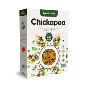 Box Of Organic Shells Plant Based Lentil And Chickpea Pasta From Chickapea