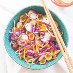Load image into Gallery viewer, Chickapea Lentil And Chickpea Pasta Shells In Delicious Vegan Recipe With Fresh Veggies
