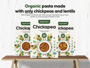 Chickapea Brand Organic Pasta Made With Only Chickpeas And Lentils Has As Much Protein As Chicken Or Fish