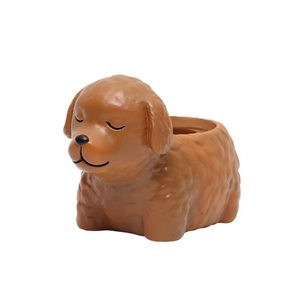 Terra Powders Adorable Animals Mini Planter Pot Chocolate Labradoodle