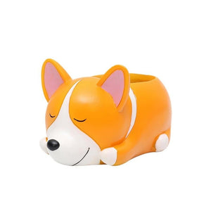 Terra Powders Adorable Animals Mini Planter Pot Corgi Cuteness