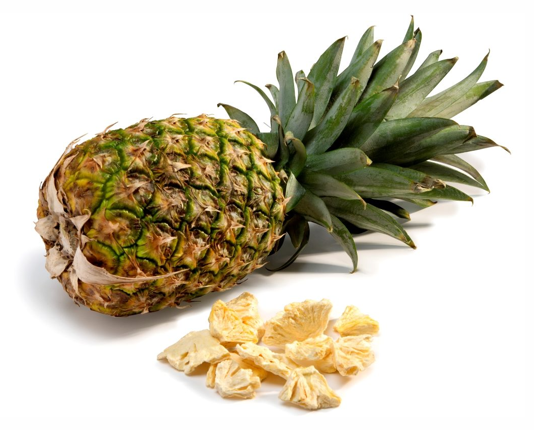 Pineapple And Freeze Dried Pineapple Pieces Crispy Green