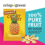 Load image into Gallery viewer, Crispy Green Freeze-Dried 100% Pure Fruit No Sugar Added Fruit Snack All Pineapple