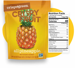 Crispy Green Crispy Fruit All Pineapple Nutrition Facts
