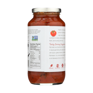 Dave's Gourmet Organic Heirloom Tomato Pasta Sauce Nutrition Facts Gluten Free