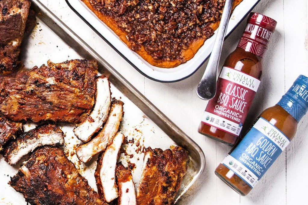 Easy Summer Barbecue Recipes Using Primal Kitchen BBQ Sauces BBQ Ribs Classic And Golden Barbeque Sauce