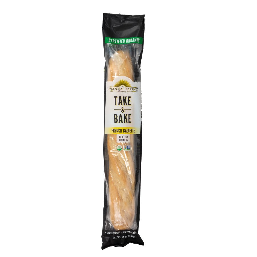 The Essential Baking Company Take & Bake Organic French Baguette 12oz