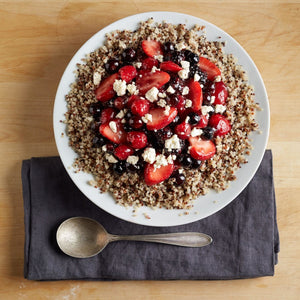 Fruit And Berry Quinoa Salad Using Colorful Quinoa Medley From TruRoots Sprouted Food
